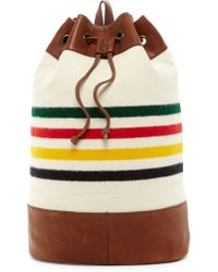 Pendleton - Leather Trimmed Duffle Backpack - Lyst