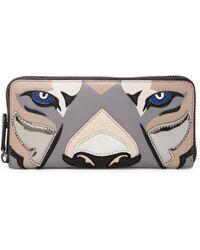 Liebeskind - Gianna Pieced Leather Lion Zip-around Wallet - Lyst