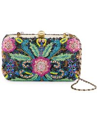 G-Lish - Colorful Beaded Hard Case Clutch - Lyst
