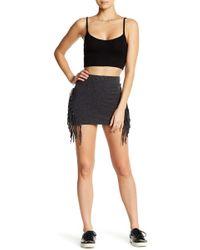 Rip Curl - Free Ride Fringe Jersey Miniskirt - Lyst