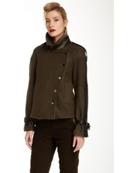 L.A.M.B. - Double Faced Wool Blend Military Coat - Lyst
