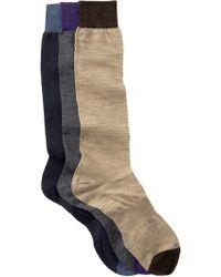 Hook + Albert - Solid Knee Socks - Pack Of 3 - Lyst