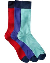 Hook + Albert - Patterned Crew Socks - Pack Of 3 - Lyst