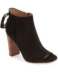 Halogen - 'warin' Open Toe Boot (women) - Lyst