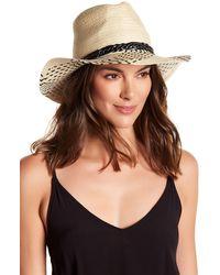 BCBGMAXAZRIA - Plaited Panama Hat - Lyst