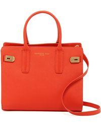 Kenneth Cole - Chrystie Leather Satchel - Lyst