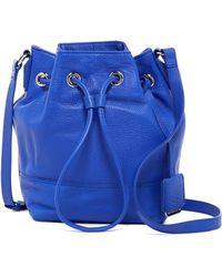 Kenneth Cole - Nevins Mini Drawstring Leather Bucket Bag - Lyst