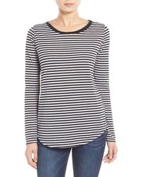 Stem - Stripe Relaxed Fit Tee - Lyst