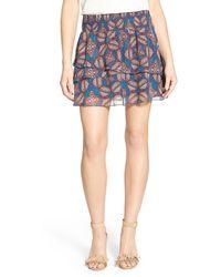 Chelsea28 Nordstrom - Double Layer Miniskirt - Lyst