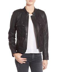 Hinge - Patch Pocket Leather Jacket - Lyst