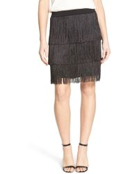 Trouvé - Stretch Knit Fringe Skirt - Lyst