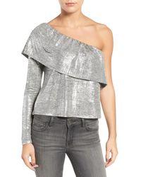 Trouvé - Metallic One-shoulder Top - Lyst