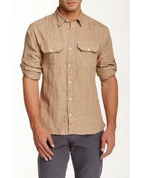 Apolis - Linen Button Under Long Sleeve Shirt - Lyst