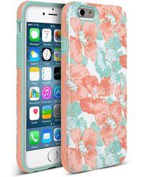 Nanette Lepore Blue/fuchsia Cottage Fresh Iphone 6/6s 2-piece Case