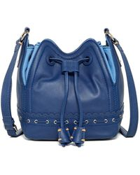 Isabella Fiore | Lotus Leather Drawstring Bag | Lyst