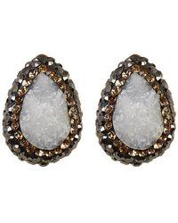 Native Gem - Yellow Gold Vermeil Ilume Druzy Stud Earrings - Lyst