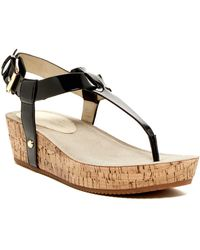 Ellen Tracy - Ivie Platform Wedge Thong Sandal - Lyst