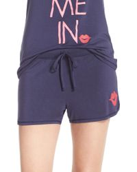 Junk Food - 'tuck Me In' Jersey Lounge Shorts - Lyst