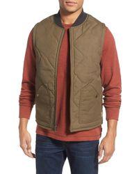 Jeremiah - 'coleman' Reversible Zip Front Vest - Lyst