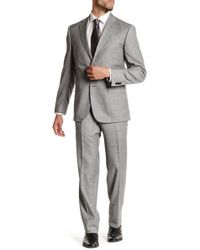JB Britches - Pearl Sharkskin Wool Flat Front Side Vent Suit - Lyst