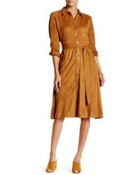 Jealous Tomato - Faux Suede Trench Coat - Lyst