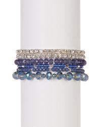 Joe Fresh - Multi Row Beaded Stretch Bracelet - Lyst