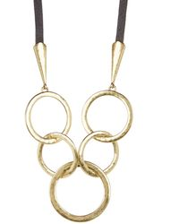 Lucky Brand - Multi Ring Necklace - Lyst