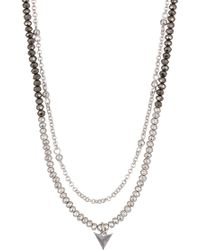 Lucky Brand - Double Layered Necklace - Lyst