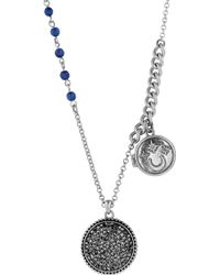 Lucky Brand - Locket Charm Necklace - Lyst