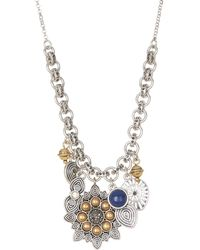 Lucky Brand - Cluster Charm Necklace - Lyst