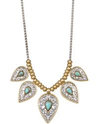 Lucky Brand - Etched Turquoise Collar Necklace - Lyst