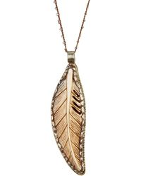 Native Gem - Sterling Silver Jumbo Feather Necklace - Lyst