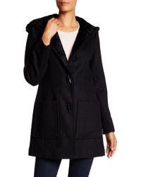 Jessica Simpson - Faux Fur Lined Wool Blend Coat - Lyst
