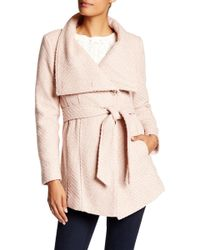 Jessica Simpson - Belted Wrap Coat - Lyst