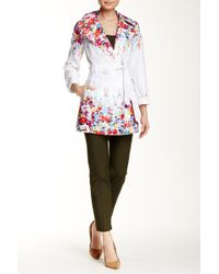 Jessica Simpson - Floral Trench Coat - Lyst