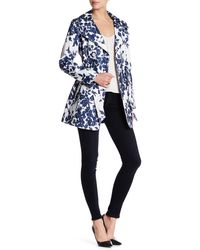 Jessica Simpson - Floral Print Trench Coat - Lyst