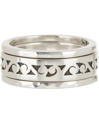 Lois Hill | Sterling Silver Cutout & Hammered Stacking Rings - Set Of 3 - Size 6 | Lyst
