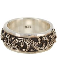Lois Hill | Sterling Silver Signature Granulated Band Ring - Size 5 | Lyst