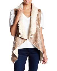 Ark & Co. - Faux Fur Vest - Lyst