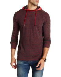 Agave | Owen Long Sleeve Double Fold Hooded Tee | Lyst