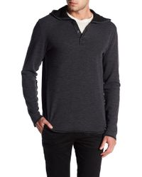 Agave - Echo Partial Button Hoodie - Lyst
