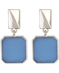 Kenneth Cole | Square Stone Drop Earrings | Lyst