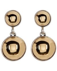 Kenneth Cole - Two-tone Double Dome Drop Earrings - Lyst