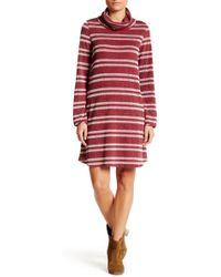 Peach Love California - Turtle Neck Sweater Dress - Lyst