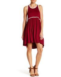 Peach Love California - Sleeveless Pleated Dress - Lyst