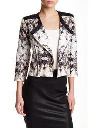 Krisa - Cropped Printed Jacket - Lyst