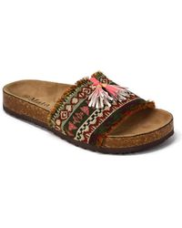 Mata Shoes - Tassel Accent Flat Sandal - Lyst