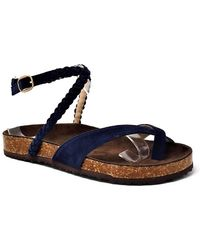 Mata Shoes - Braided Ankle Strap Faux Suede Sandal - Lyst