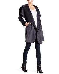 Lavand - Whipstitch Drape Coat - Lyst