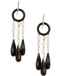 Lauren by Ralph Lauren - Deco Pave Drop Earrings - Lyst